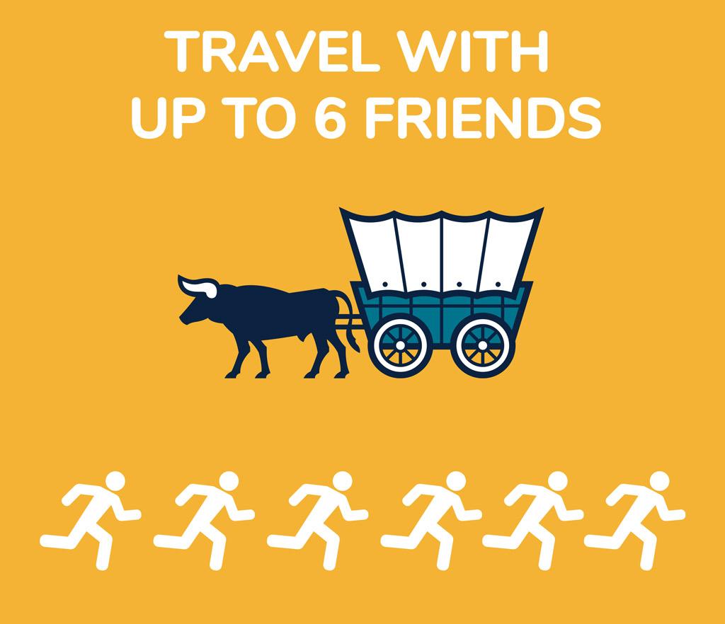 6 Friend Wagon